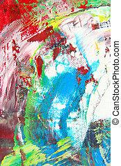 abstrakcyjny, praca, sztuka