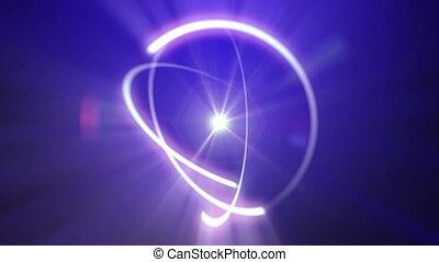 abstrakcyjny, promień, lekki, orbita, atom