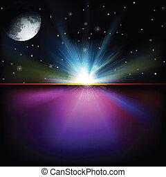 abstrakcyjny, przestrzeń, tło, z, gwiazdy