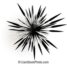 abstrakcyjny, przypadkowy, forma., asymetryczny, promieniowy...