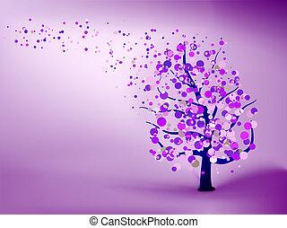 abstrakcyjny, purpurowy, tło., eps, 8