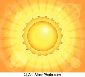 abstrakcyjny, słońce, temat, wizerunek, 1