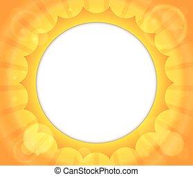 abstrakcyjny, słońce, temat, wizerunek, 2