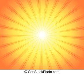 abstrakcyjny, słońce, temat, wizerunek, 3