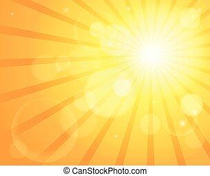 abstrakcyjny, słońce, temat, wizerunek, 5