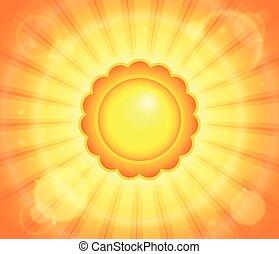 abstrakcyjny, słońce, temat, wizerunek, 6