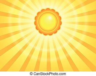 abstrakcyjny, słońce, temat, wizerunek, 7