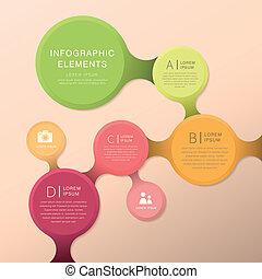 abstrakcyjny, schemat przepływu, infographics