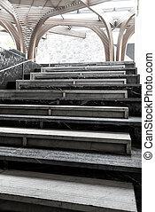 abstrakcyjny, schody, krok