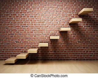 abstrakcyjny, schody