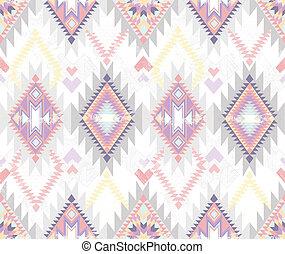 abstrakcyjny, seamless, aztek, próbka