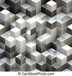 abstrakcyjny, seamless, sześcian, tło