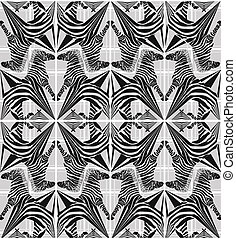 abstrakcyjny, seamless, zebra, próbka