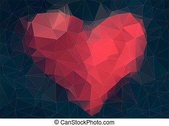 abstrakcyjny, sercowaty