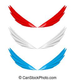 abstrakcyjny, skrzydełka, barwny