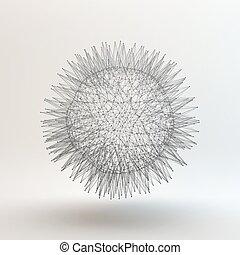 abstrakcyjny, sphere., wektor, illustration., 3d