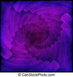 abstrakcyjny, spirala, struktura, tło, fiołek, albo