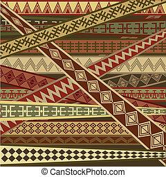 abstrakcyjny, struktura, etniczny