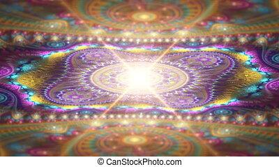 abstrakcyjny, struktura, fractal
