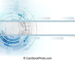 abstrakcyjny, strzały, wektor, tło, techniczny, koło