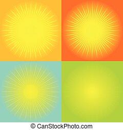 abstrakcyjny, sunburst, tło