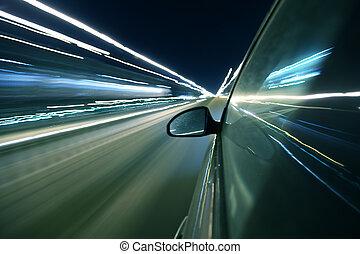 abstrakcyjny, szybkość, jazda