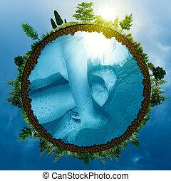 abstrakcyjny, tła, środowiskowy, projektować, embryo., twój