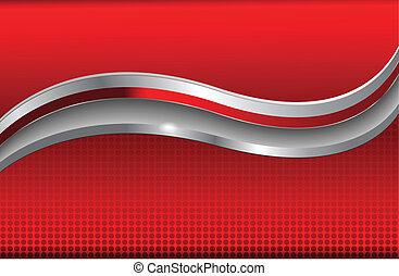 abstrakcyjny, tło, czerwony, metaliczny