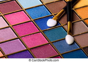 abstrakcyjny, tło, fotografia, konwencja, makijaż, komplet