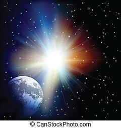 abstrakcyjny, tło, gwiazdy, przestrzeń