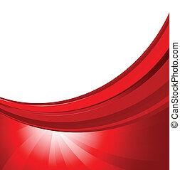 abstrakcyjny, tło, w, czerwony, kolor