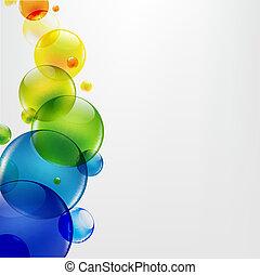 abstrakcyjny, tło, z, barwny, piłki