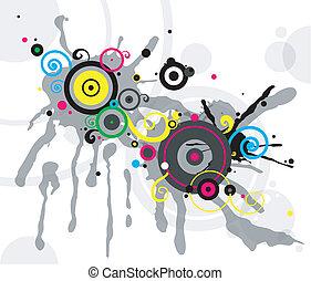 abstrakcyjny, tło, z, koło modelują