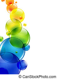 abstrakcyjny, tło, z, kolor, piłki