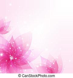 abstrakcyjny, tło, z, kwiaty