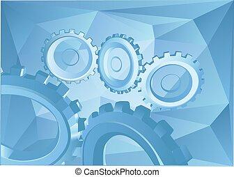 abstrakcyjny, tło, z, mechanizmy