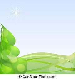 abstrakcyjny, tło, z, niejaki, sylwetka, od, niejaki, boże narodzenie, drzewo., eps10