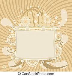 abstrakcyjny, tło, z, przedimek określony przed rzeczownikami, sylwetka, od, dłoń drzewa