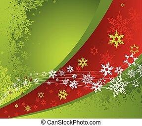 abstrakcyjny, tło, z, snowflakes.