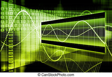 abstrakcyjny, technologia, handlowy
