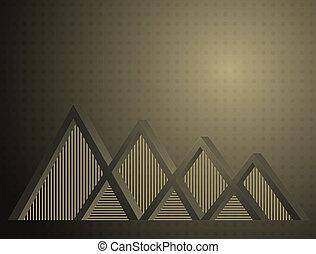 abstrakcyjny, trójkąt, tło