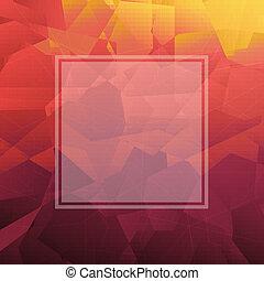 abstrakcyjny, trójkąt, tło, z, chorągiew