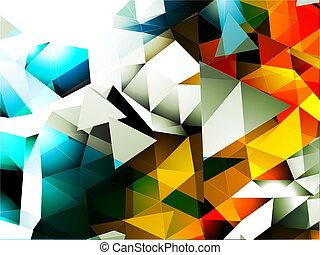 abstrakcyjny, trójkątny, tło