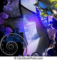 abstrakcyjny, wejście, artysta