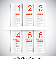 abstrakcyjny, wektor, chorągiew, 3d, infographics