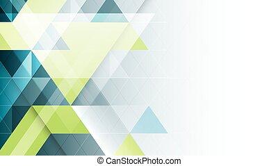 abstrakcyjny, wektor, geometryczny, banner.