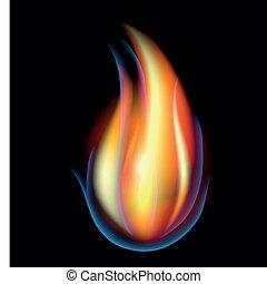 abstrakcyjny, wektor, płomień