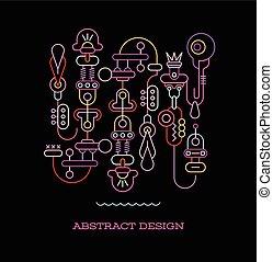 abstrakcyjny, wektor, projektować, ilustracja