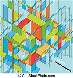 abstrakcyjny, wektor, projektować, tło, 3d