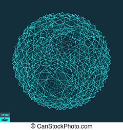 abstrakcyjny, wektor, sphere., illustration., 3d